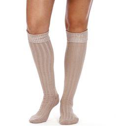Oatmeal Knee High Socks