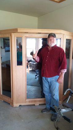 Good Health Saunas GS-Series 3-Person Corner Hemlock Wood Infrared Sauna #getsweaty #infraredsauna