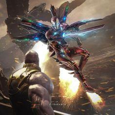 IronMan Vs.Thanos Fanmade Art ,so cool. #ironman #Thanos #marvel #cosplayclass Marvel Dc Comics, Avengers Vs Thanos, Iron Man Avengers, Marvel Vs, Marvel Heroes, Marvel Characters, Marvel Movies, Iron Man Fan Art, Iron Man Wallpaper