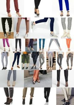 What shoes to wear with track pants :: how to style with flats, booties, athletic shoes, heels, sandals...