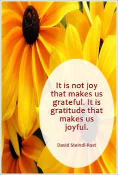 #Gratitude makes us #joyful
