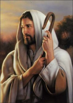 Collection of pictures of Jesus Christ. The life story of Jesus Christ illustrated with beautiful animations Pictures Of Jesus Christ, Religious Pictures, Lds Pictures, Church Pictures, Religious Art, Lord Is My Shepherd, The Good Shepherd, Simon Dewey, Image Jesus