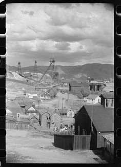 Copper mine in miner's back yard, Butte, Montana