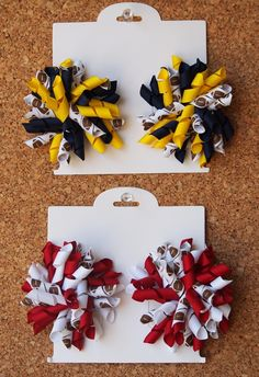 Football Korker Hairbow Set - 20 Colors to Choose From at VeryJane.com