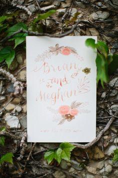 Pretty invitations: http://www.stylemepretty.com/wisconsin-weddings/lake-geneva/2015/06/26/romantic-lake-geneva-wedding-in-wisconsin/ | Photography: Kristina Lorraine - http://kristinalorraine.com/