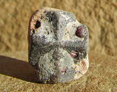 staurolite crystals taos | Cross Crystal with Garnet - Raw Staurolite, Fairy Cross Crystal, Taos ...