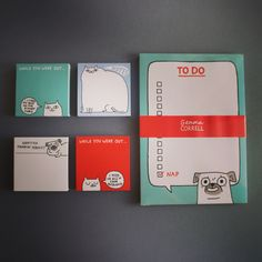 Still in time for Christmas. (Local shipping) .. Gemma Correll notepads in store. .... #sniffoutsomethingspecial #gingerandbear #gemmacorrell