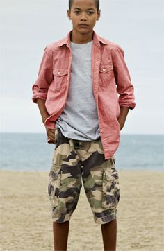 Tucker + Tate Chambray Shirt, T-Shirt & Jeans (Big Boys) | Nordstrom