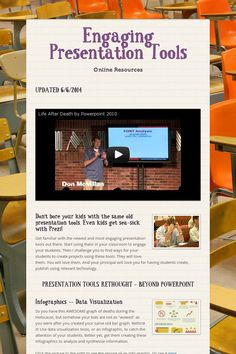 Engaging Presentation Tools ideas for technology in the classroom.  Can be used for social studies or any other subject with upper elementary.
