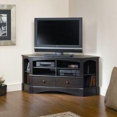 Sauder Harbor View Corner Tv Stand In Antiqued Black - 402902