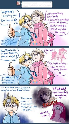 APH: Ask RusAme - do you watch MLP together? by PunPuniChu on deviantART