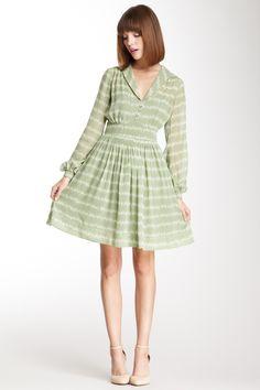 Orla Kiely Silk Georgettte Long Sleeve Dress