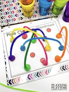 August Preschool Activities Binder - Planning Playtime