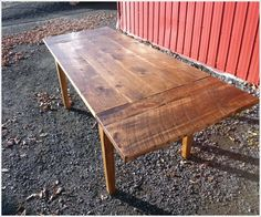 Rustic Harvest Table With Leaves   Glengarry Harvest   Farm Tables    Johnsons Antique Store