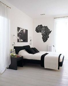 Wall Vinyl Decals Sticker Housewares Africa Map AB15