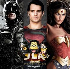 Justice League Minions Batman~Superman~Wonder Woman