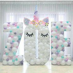 Unicorn party balloon name! Unicorn Birthday Parties, Baby Birthday, Birthday Ideas, Balloon Decorations, Birthday Party Decorations, Deco Ballon, Unicorn Baby Shower, Baby Party, Party Time