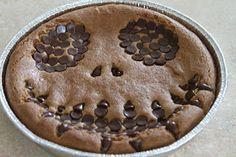 Sweet Nothings In The Kitchen: Dairy Free, Gluten Free, Ooey Gooey Jack Skellington Cookie Cake