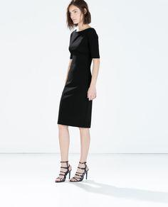 ZARA - WOMAN - BOAT NECK PRINTED DRESS