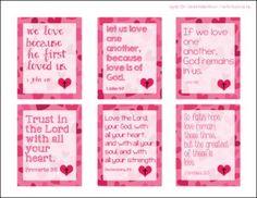 Printable Scripture Valentine's Cards