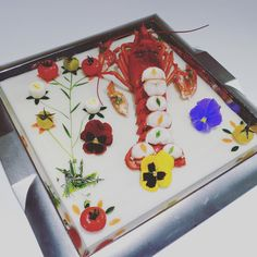 """""""#lobster with chaud-droid sauce courtesy of Chef Xavier #lcbottawa #art #food #cuisine"""""""