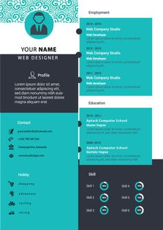 Attract and get an upperhand in getting a new job with this eye catching c.v/ resume. Resume Features: Cheap to Buy Secure purchase Easy to edit Creative an Cv Design, Resume Design, Cv Template, Templates, Cv Curriculum, It Cv, Web Company, Creative Cv, Resume Cv