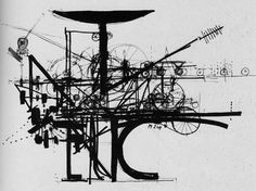 Jean Tinguely Sculpture - Reference for 'Laws of Motion' Sequence
