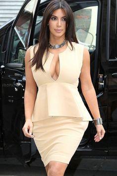 Ivory Placket Neck Flouncing Peplum Dress US$25.86 V Dress, Bodycon Dress, Peplum Dresses, Party Dress, Girl Fashion, Fashion Dresses, Fashion Glamour, Trendy Dresses, Fashion Beauty