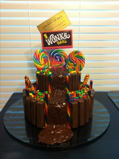 Willy Wonka Birthday Cake!!!! Made for my granddaughter's 6th birthday!