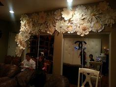 Paper flower wall...