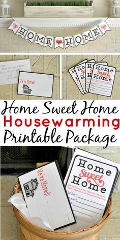 If you just moved or know someone that did, this Home Sweet Home Housewarming Printable Package will make the moving process sweet instead of stressful.