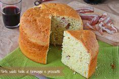 Torta salata facile con formaggio e prosciutto