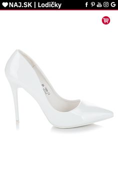 Biele lakované lodičky Seastar Pumps, Heels, Platform, Sexy, Fashion, Heel, Moda, Fashion Styles, Pumps Heels