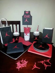 Jumpman party supplies are perfect for a Baby Shower, Birthday Party, and more. The colors and logo can be changed to meet your needs. If you have any specific design needs send us an email regarding your request. ~~~~The listing includes~~~~ 12 items each No Refunds Item is handmade in