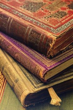 Antique silk bound books. ❣Julianne McPeters❣ no pin limits