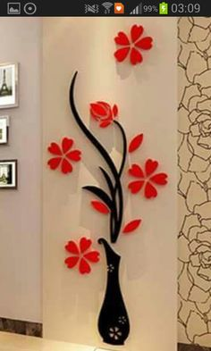 Flower Decal Vinyl Decor Art Home Room Removable Mural Wall Stickers DIY new. for sale online Wall Stickers Tv, Flower Wall Stickers, Wall Stickers Home Decor, Wall Decal, Wallpaper Stickers, Kids Stickers, Stickers Online, Vinyl Decor, Rooms Home Decor