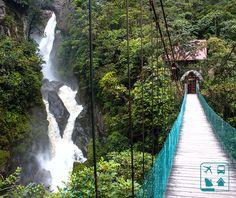 Conhecida pelo nome de 'Caldeirão do Diabo' (Pailon del Diablo) esta imponente cachoeira é a mais famosa da cidade de Baños, no Equador. Você curte natureza? Programe sua viagem para o Equador com um de nossos consultores de viagens em todo Brasil. http://www.clubeturismo.com.br/site/index.php