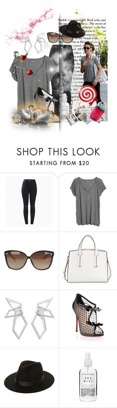"""""""Untitled #7240"""" by princhelle-mack ❤ liked on Polyvore featuring Madewell, Linda Farrow, French Connection, W. Britt, Christian Louboutin, Lack of Color and Herbivore"""