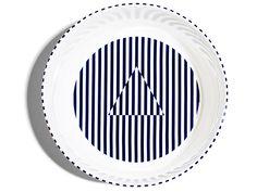 Richard Brendon meets PATTERNITY, Serving Bowl. Contemporary British bone china tableware.