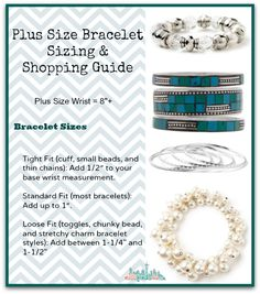 Buying Guide Plus Size Bracelets - how to buy jewelry for plus size woman