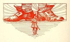 Staynes Illustrations: Gulliver's Voyages to Lilliput and Brobdingnag. Gulliver's Travels, Illustrators, Abstract, Artwork, Red, Poster, Summary, Work Of Art, Auguste Rodin Artwork