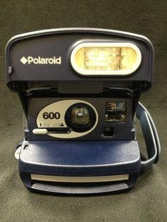 """Vintage Poloroid One-Step Express 600 Instant Camera """"Just Point & Shoot"""""""