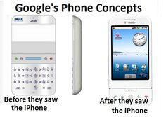 This Original Google Concept Phone Is Further Proof That Android Just Ripped Off Apple. 안드로이드폰이 아이폰을 베꼈다고 말할 수 밖에 없는 증거.