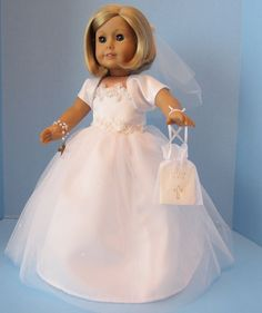 American Girl Doll: First Communion of Tulle by SewSpecialByBarb