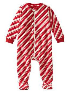 Holiday fleece footed sleep one-piece