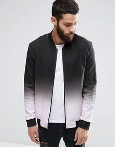 Religion Dip Dye Sweat Bomber Jacket