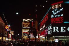 1964 Times Square At Night Bond Clothing Vintage NYC Billboards by Christian Montone on Flickr.