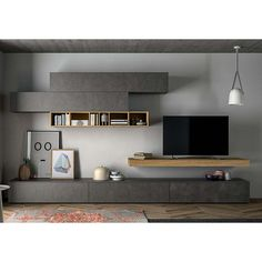 Sectional storage wall SLIM 105 by Dall'Agnese design Imago Design, Massimo Rosa Living Room Grey, Living Room Modern, Home Living Room, Living Walls, Home Furniture, Furniture Design, Modular Furniture, Muebles Living, Family Room