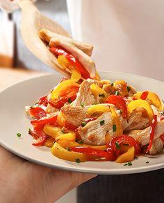 Maggi pulpe de pui cu legume la tigaie Thai Red Curry, Ethnic Recipes, Food, Eten, Meals, Diet