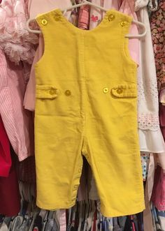 Yellow Corduroy Overalls 6/9 Months by lishyloo on Etsy